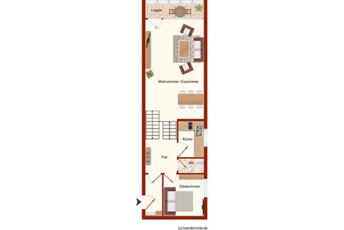 Grundriss – Suite Rübezahl