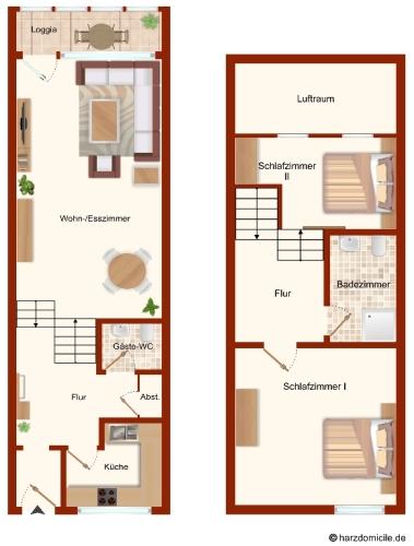 Grundriss – Panorama Suite