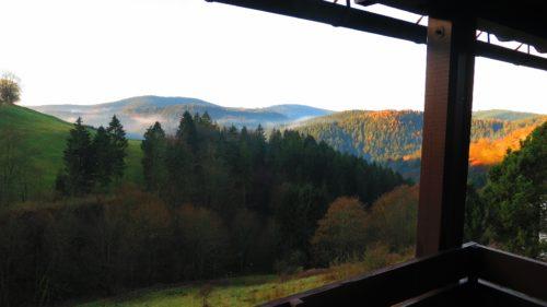 Panorama Blick vom Balkon – Ferienwohnung am Glockenberg
