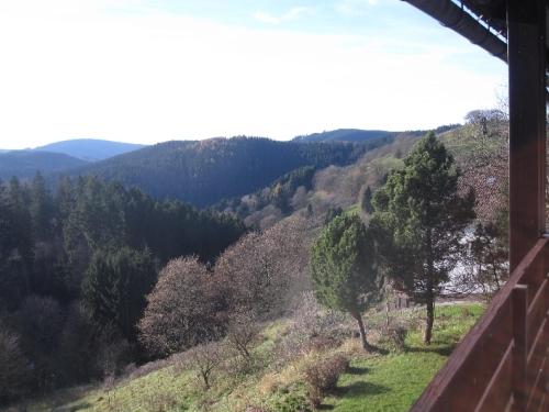Blick vom Balkon – Ferienwohnung am Glockenberg