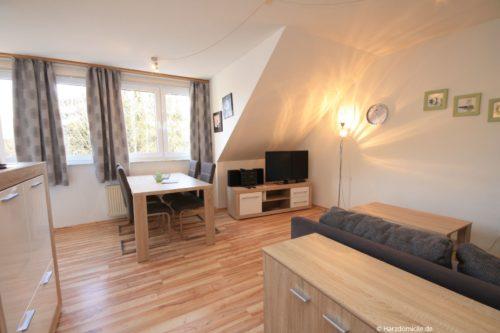 Wohn- /Essbereich mit offener Küche – Ferienwohnung an der Wurmbergseilbahn