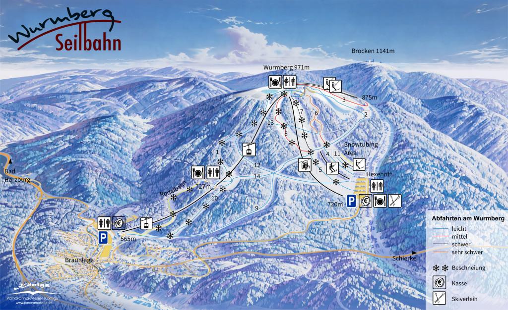 Skigebiet am Wurmberg
