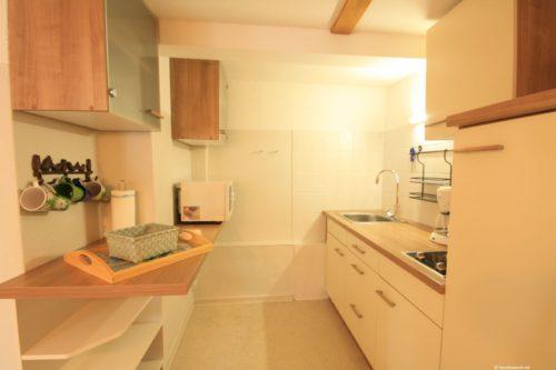 Küche mit Essplatz – Ferienhaus Amselnest