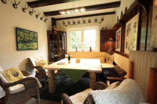 Essbereich mit Kamin – Ferienhaus Braunlage