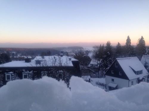 Blick aus dem Schlafzimmerfenster – Ferienwohnung A-Viva
