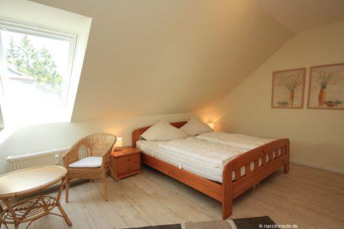 Schlafzimmer – Ferienwohnung an der Bode