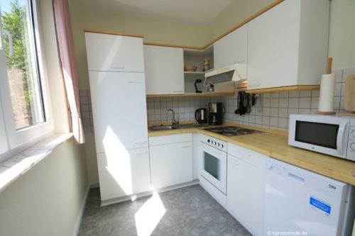 Wohn- /Essbereich mit offener Küche – Ferienwohnung an der Bode