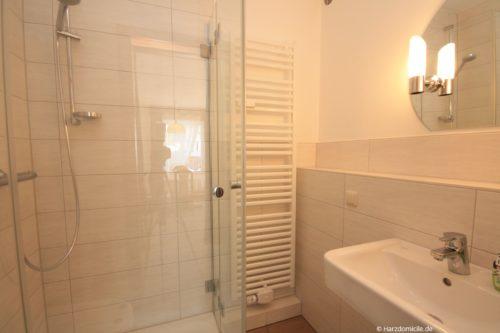Badezimmer – Ferienwohnung Lawerenz