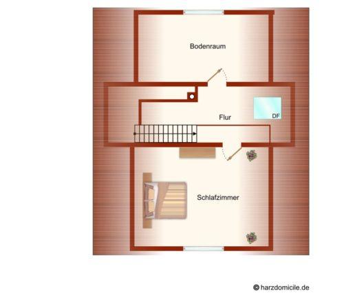 Grundriss (Spitzboden) – Gruppenhaus Fernblick