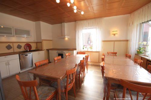 Wohn- /Essbereich mit offener Küche – Ferienhaus Fernblick