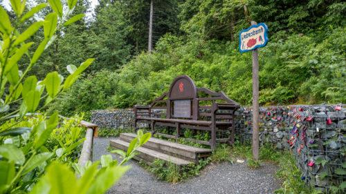 Der Liebesbankweg in Hahnenklee im Oberharz.