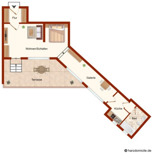 Grundriss – Ferienhaus Sandra
