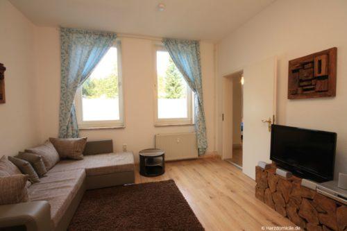 Wohnzimmer – Ferienwohnung Waldblick