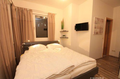 Schlafzimmer 3 – Ferienwohnung Hexenbaude
