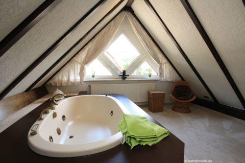Badezimmer 2 (offen) – Ferienwohnung Zauberhirsch