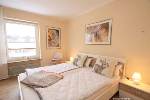 Schlafzimmer - Ferienwohnung Talsicht