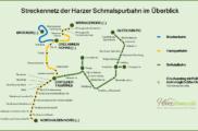 Streckennetz der Harzer Schmalspurbahn