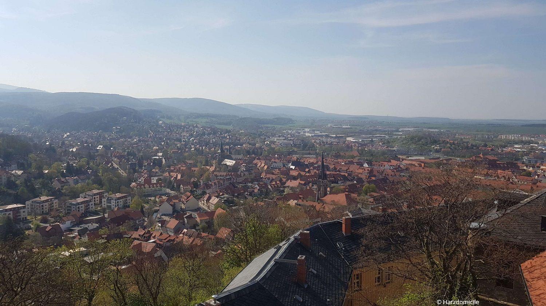 Wernigerode - Blick über die Stadt vom Schloss Wernigerode