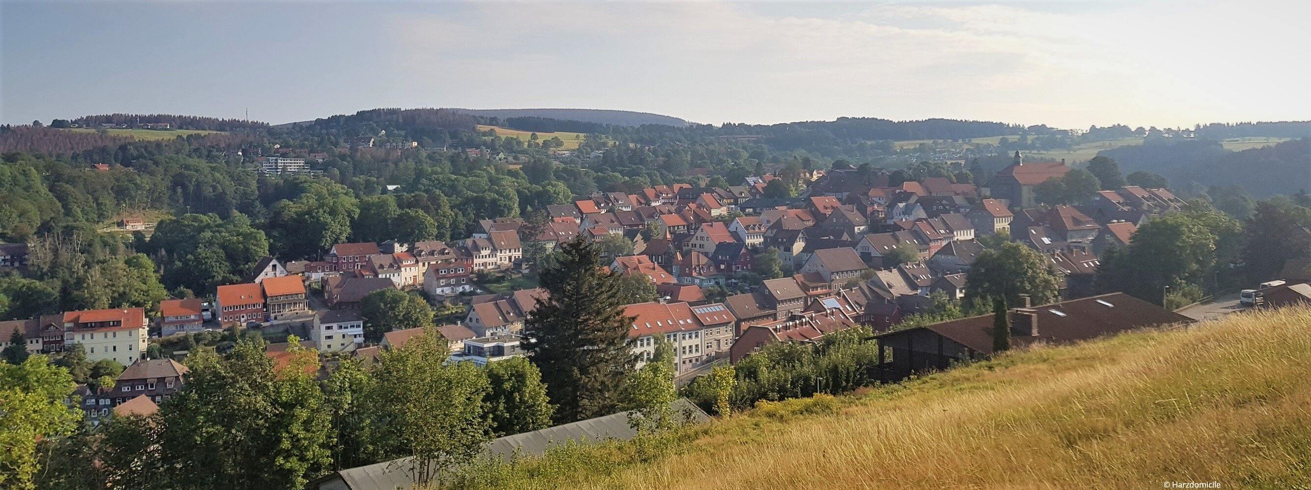 Ausblick vom Glockenberg in Sankt Andreasberg.