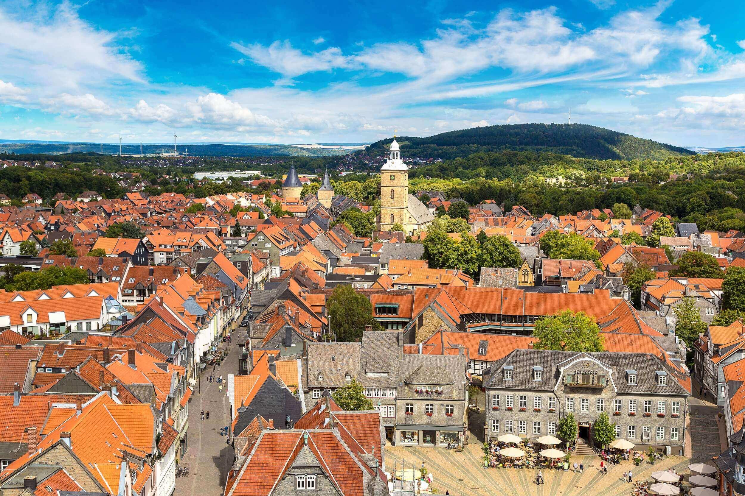 Goslar – Luftaufnahme von oben