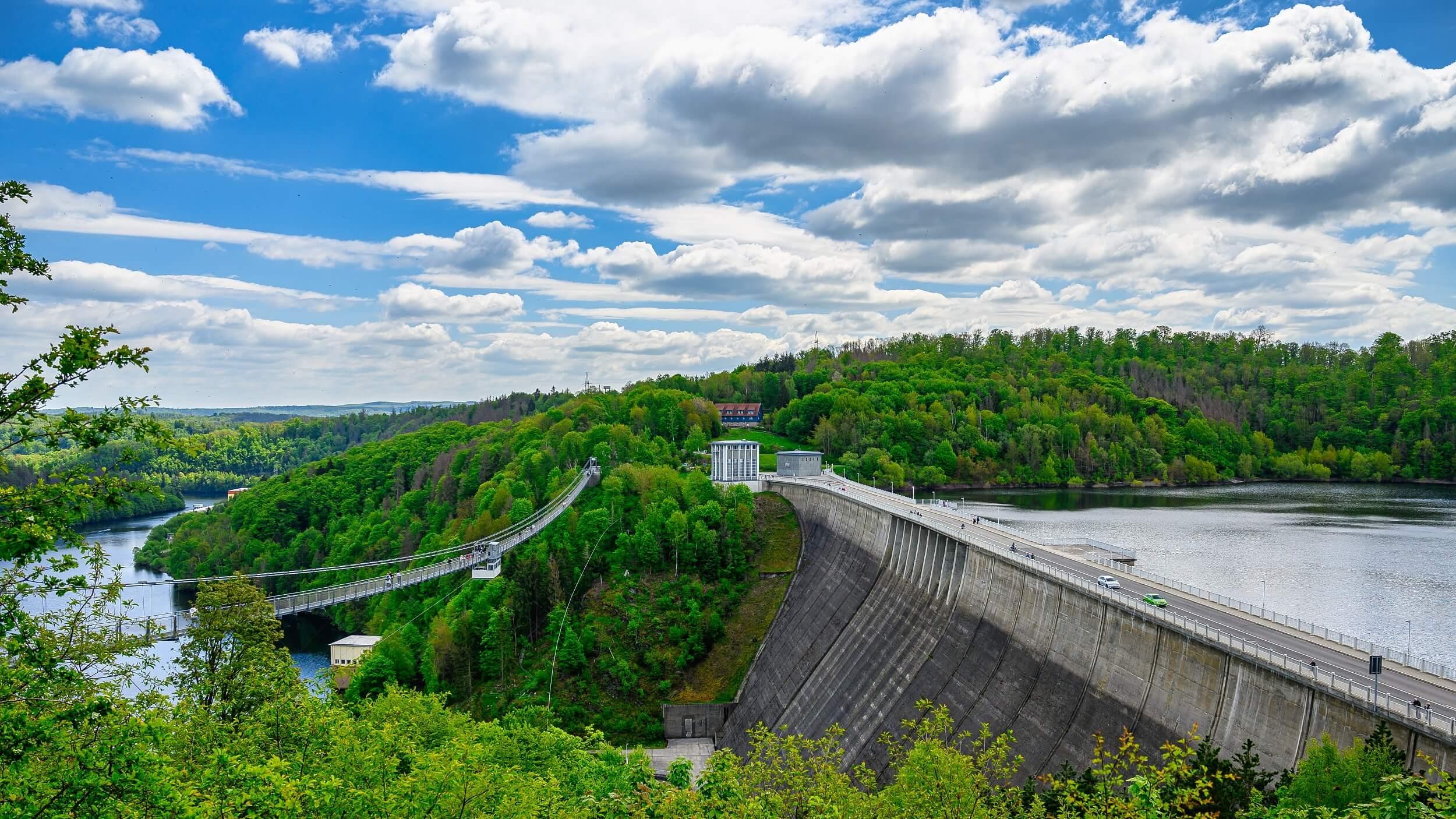 Hängebrücke Titan RT an der Rappbodetalsperre im Harz