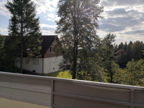 Ferienwohnung Evergreen Balkon
